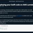 Deploying Your Swift Code On AWS Lambda
