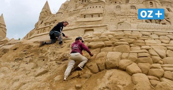 Größte Sandburg der Welt steht weiterhin in Binz auf Rügen