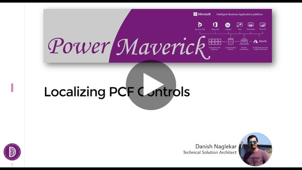 Localizing your PCF Controls