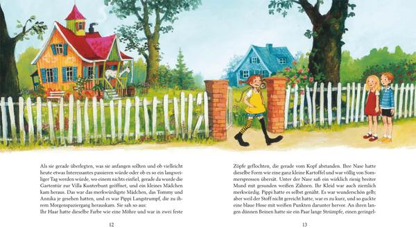 "Blick in ""Pippi Langstrumpf"", Oetinger Verlag"