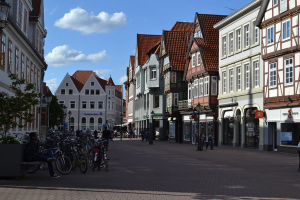 Das Ziel: Die Celler Altstadt mit ihren Fachwerkhäusern. (Foto: CZ)