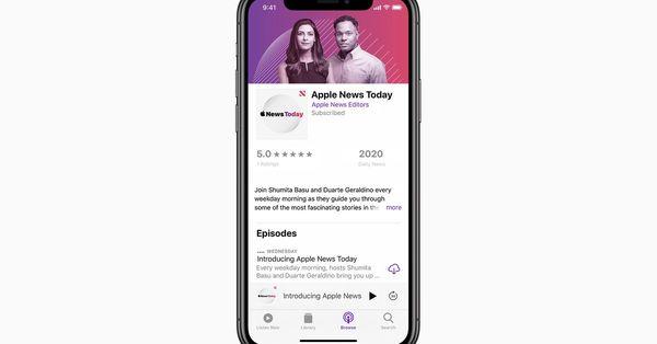Apple udgiver første egen podcast