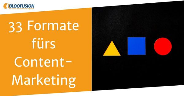 Content-Marketing: 33 Formate (Ideen + Inspiration) | Bloofusion Blog
