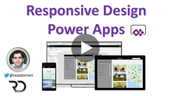 Power Apps Responsive Design Tutorial for Canvas Apps