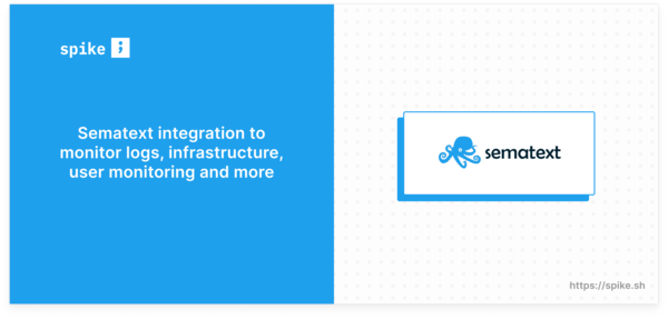 Sematext integration on Spike.sh
