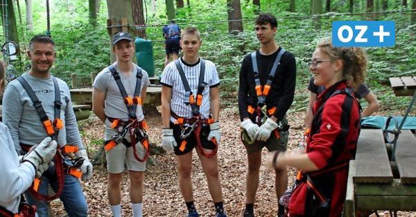 Usedomer Kletterwald: Hier kann bis zu 14 Metern Höhe geklettert werden