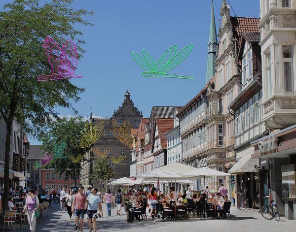 Das Ziel: Hameln mit seinen Häusern aus der Zeit der Weserrenaissance. (Foto: Rathmann)