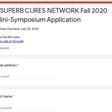 CSUPERB CURES NETWORK Fall 2020 Mini-Symposium Application
