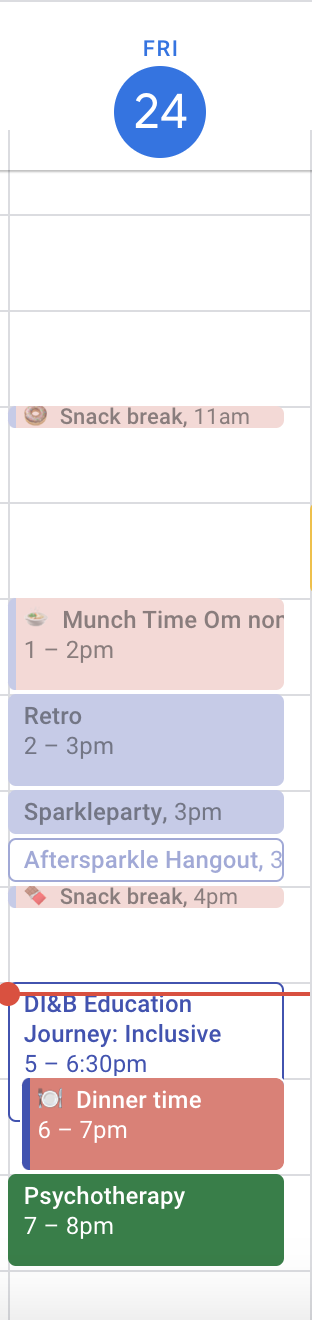 My days now include a shared schedule of my diet plan