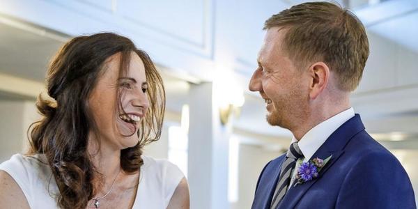 Sachsens Ministerpräsident Michael Kretschmer hat geheiratet