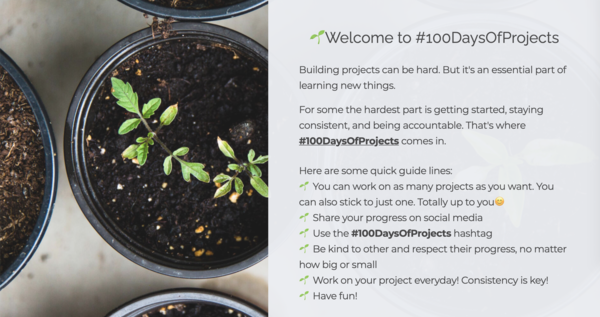 🌱 #100DaysOfProjects by Ceora Ford