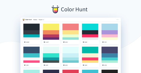 Color Hunt — Color Palettes for Designers and Artists