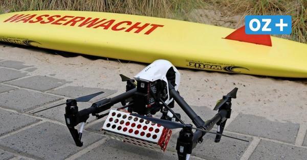 Rettungs-Drohne stürzt in Heiligendamm an voll belegten Strand ab