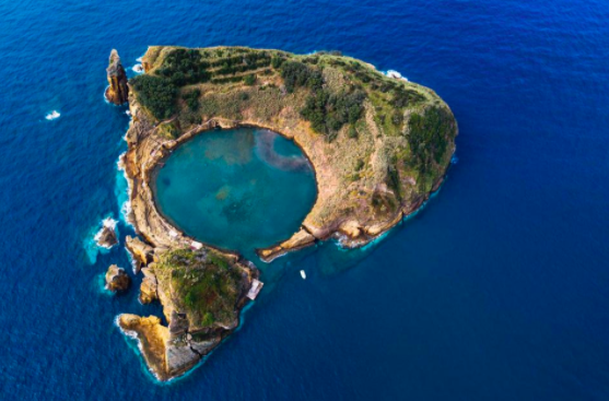 Islet of Vila Franca do Campo Sao Miguel in the Azores Islands, Portugal