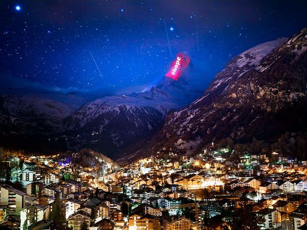 Hope lights up over the Swiss Alps
