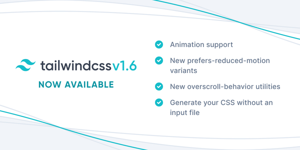 Tailwind CSS v1.6.0