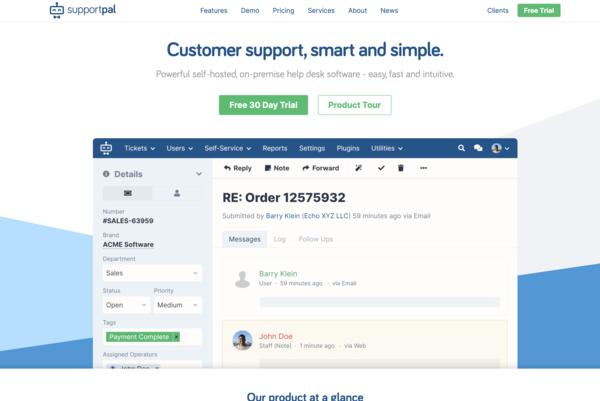 SupportPal | Smart Self-Hosted, On-Premise Help Desk Software