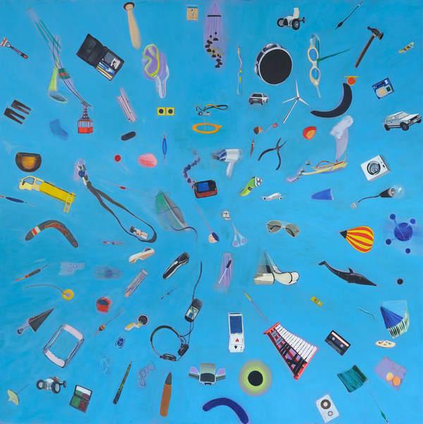 """Bartek Kiełbowicz, """"Out of the blue"""", oil on canvas."""