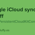 Toggle iCloud Sync On/Off For NSPersistentCloudKitContainer