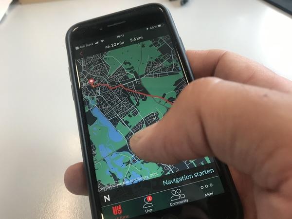 Die App Bike Citizens hilft im Zweifelsfall bei der Suche nach dem Weg. (Foto: Conrad von Meding)