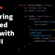 Rendering Textured Views With SwiftUI
