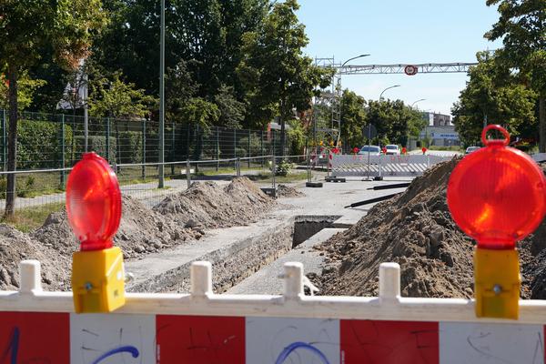 Baustelle auf der Rudolf-Moos-Straße. Foto: Varvara Smirnova