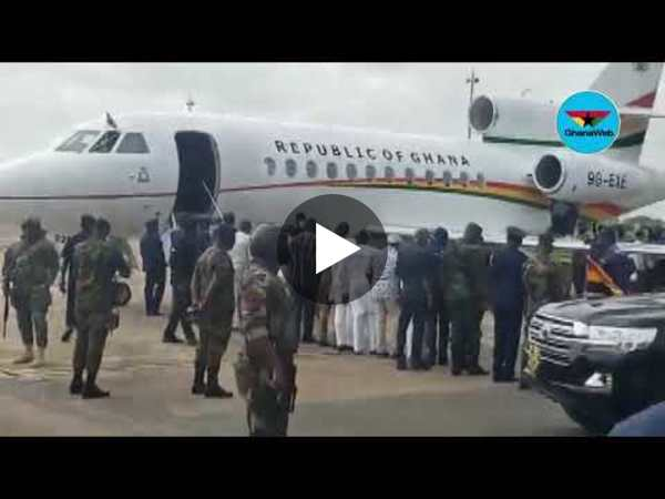 Akufo-Addo arrives in Tamale for three-day working visit