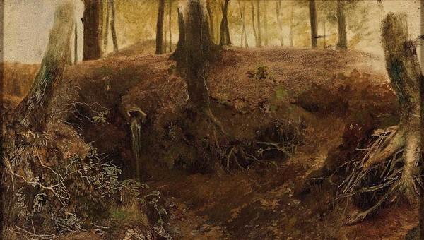 'De oorsprong te Oosterbeek' ca. 1860 - olieverf op doek: Matthijs Maris (Herkomst: coll. Kunstmuseum Den Haag)