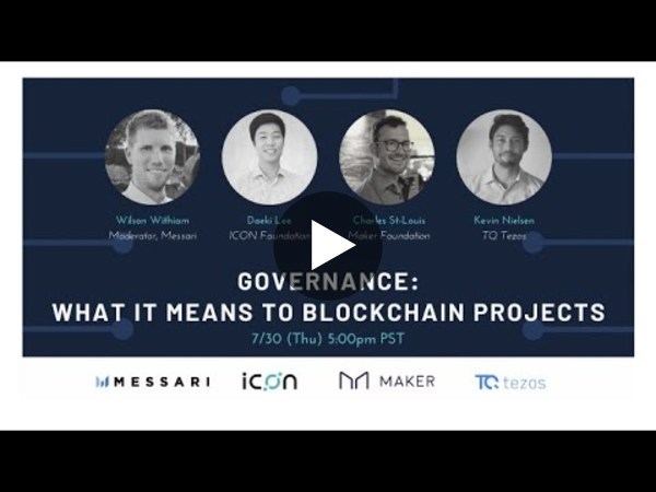 Governance - What it Means to Blockchain Projects