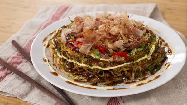 Okonomiyaki pancakes 2-ways