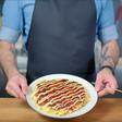 Okonomiyaki with sauces from scratch