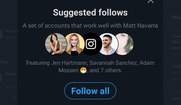 Twitter's 'suggested follows' feature