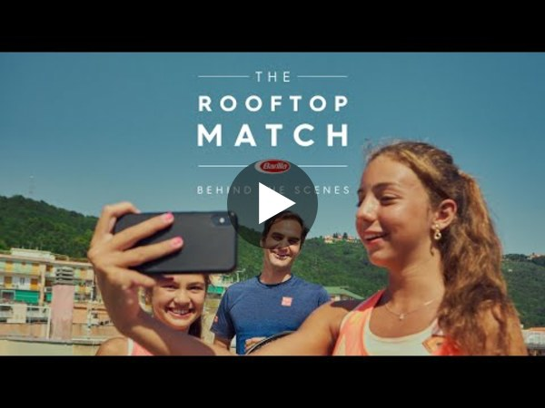 Barilla   Behind the scenes of The Rooftop Match with Roger Federer