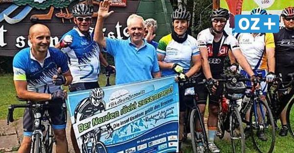 Sportler radeln von Zinnowitz aus 480 Kilometer für guten Zweck
