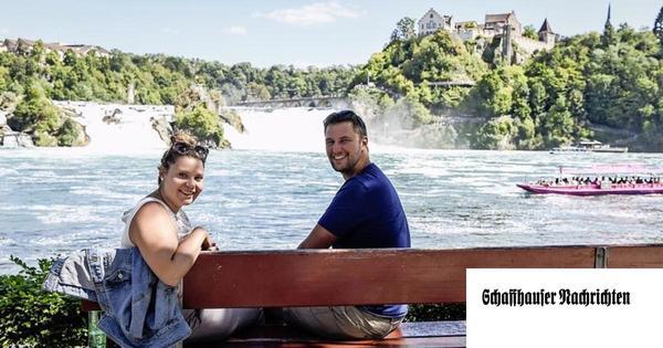 Der Rheinfall zieht Westschweizer Touristen an