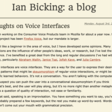 Thoughts on VoiceInterfaces