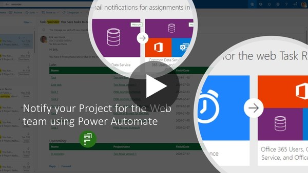 Notify your Project for the Web team using Power Automate