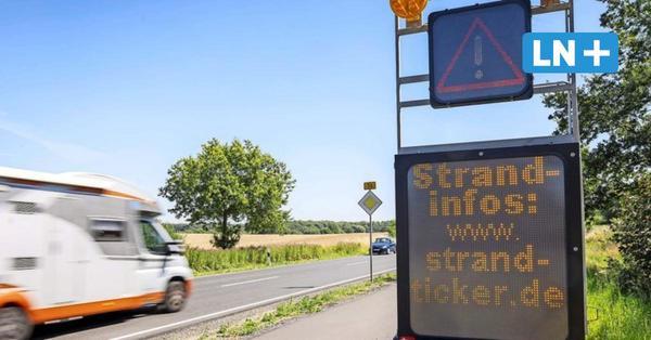 So voll ist es an der Ostsee: LED-Tafeln informieren Autofahrer