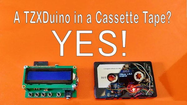 A TZXDuino inside a Cassette Tape? It can be done!