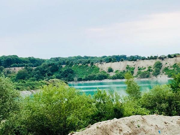 Zerklüftete Landschaft: Blick in eine der Mergelgruben. (Foto: Felix Harbart)