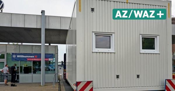 Corona-Container im Werk Wolfsburg angekommen