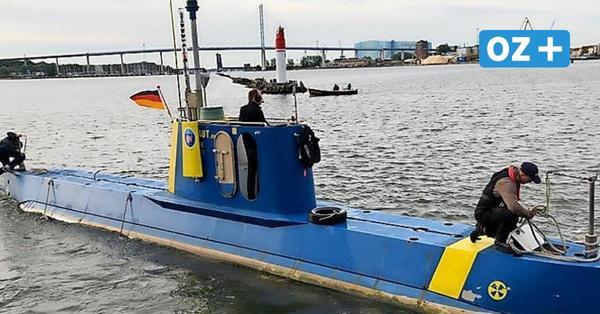 U-Boot taucht im Stralsunder Hafen auf