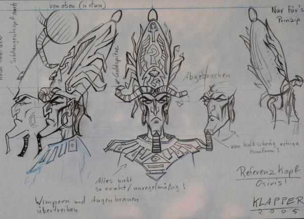 Am Anfang eines Computerspiels stehen Entwürfe der der handelnden Charaktere.Foto: Wolfgang Sens