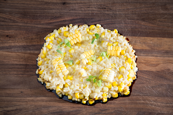 Risotto with sweet corn
