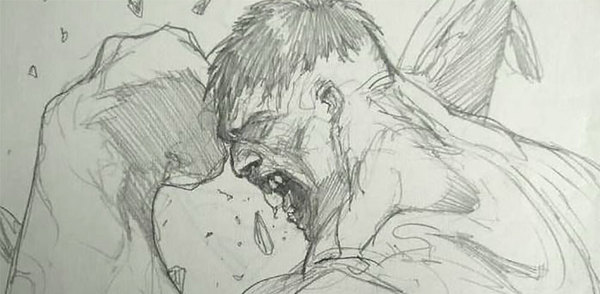 Gabriele Dell'Otto - Incredible Hulk sketch