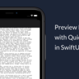 Preview Files With QuickLook In SwiftUI