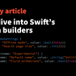 A Deep Dive Into Swift's Function Builders