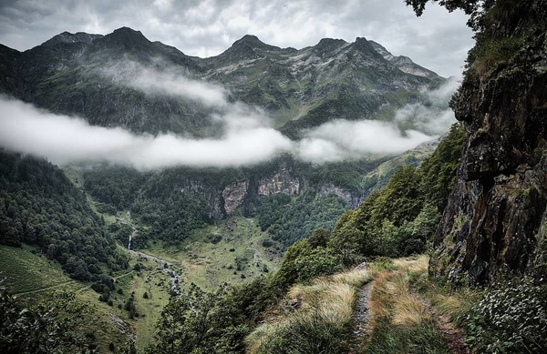 Camille's favourite 'road' in the Ariege. I'm heading there this weekend.