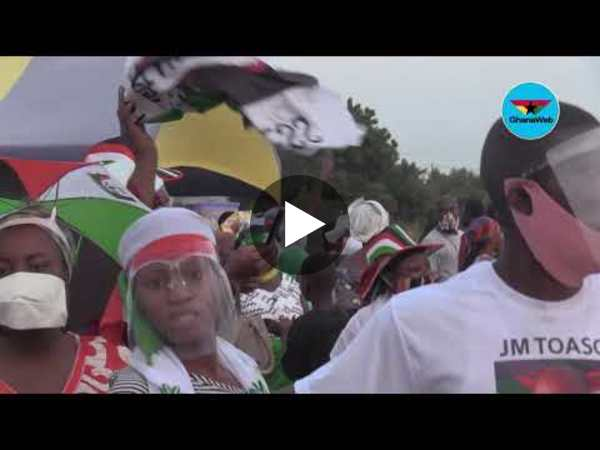 Highlights: Massive crowd welcomes NDC's Presidential running mate