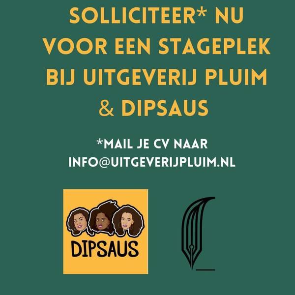 Uitgeverij Pluim & Dipsaus zoeken een stagiaire!